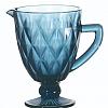 Jarra Matelassê em Vidro Azul 1 Litro