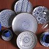 Prato Sobremesa Cerâmica Coup Asteca 20 cm 6 Peças