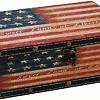 Caixa  Bandeira USA em Madeira 24 x 16 x 7 cm de altura