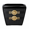 Vaso 18 cm Preto Gold Signature Versace