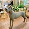Escultura Cachorra Óculos 45x35x10cm