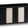 Porta-controle Strips Madeira e Acrílico  20 x 11 x 10 cm altura