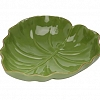 Prato Bowl Folha Cerâmica 23,5x22x6,5cm
