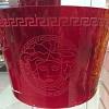 Bowl Medusa 22 cm Vermelho Versace Cristal Rosenthal