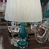 Abajour Murano Esmeralda com Cúpula 68 cm