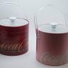 Balde de Gelo Coca Cola Couro Rosa 22 x 18.2 x 21 cm