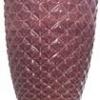 Vaso Diamante Vinho Cerâmica  22x33cm