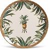 Prato Raso Cerâmica Coup Pineapple Natural 27 cm 6 Peças