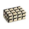 Caixa Quadrados Osso Athos 15 x 16 x 10 cm
