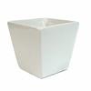 Vaso Trapézio Branco em Cerãmica 8 cm