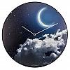 Relógio de Parede Vidro Côncavo  Moon Noite/Dia 35 cm
