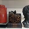 Escultura Big Maçã Big Leopardo 18x8x19cm Patrícia maranhão