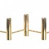 Castiçal 5 Velas Metal Dourado 36x10cm