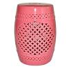 Garden Seat Marroquino Pink em Cerâmica 46 cm