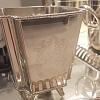 Cachepot quadrado prata