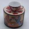 Xícara Capuccino em Cerâmica e Esmaltação Ritzenhoff Alemã - Coleção Amore Mio