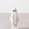 Escultura Pinguim Branco Concreto Estúdio Iludi   6x20x8cm