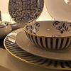 Xícara Café Vista Alegre Transatlântica Porcelana  Filagem Ouro